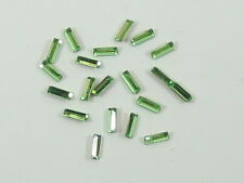 36pcs 4X2mm PERIDOT BAGUETTE FOILED POINTED BACK swarovski  rhinestones