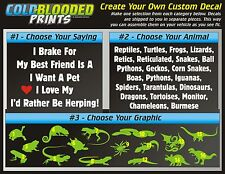 Vehicle Decal Custom Saying Cold Blooded Prints Car Sticker Reptile