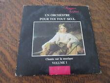 cd un orchestre pour toi tout seul chante sur la musique volume 1