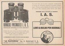 Z1417 Binocoli LA FILOTECNICA Ing. Salmoiraghi - Pubblicità d'epoca - 1928 Ad