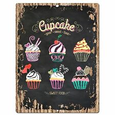 PP0571 Cup Cake Plate Chic Sign Store Shop Cafe Home Kitchen Decor Gift Ideas