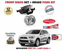 FOR MITSUBISHI ASX 1.6 1.8DT 2010- NEW FRONT BRAKE DISCS SET + DISC PADS KIT