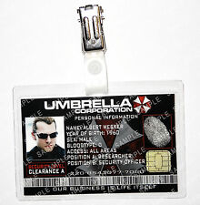 Resident Evil ID Badge - Albert Wesker Umbrella Zombie Prop Cosplay Halloween
