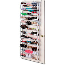 36 PAIR OVER THE DOOR HANGING SHOE HOOK SHELF RACK HOLDER STORAGE ORGANISER