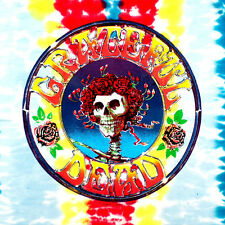 """2.5"""" Tie Dye Grateful Dead STICKER. Skull with Roses. Great for your bong, pipe"""