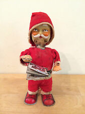 """Vintage Mechanical Wind-Up Santa Claus Reading a Book - Made in Japan - 7.5"""""""