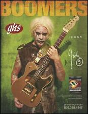 John 5 Signature Fender Telecaster GHS Guitar Strings ad 8 x 11 advertiement