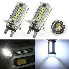 2 X H7 5630 33 LED Fog DRL Driving Car Head Light Lamp Bulbs White Super Bright