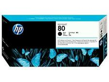 ORIGINAL & BOXED HP80 / C4820A BLACK PRINTHEAD + CLEANER - SWIFTLY POSTED.