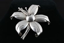 STERLING TAXCO F. TORRES FLORAL BROOCH 925 MEXICO