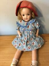 vintage composition and cloth doll 20""