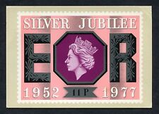 Post Office Picture Card - 1977 11p Silver Jubilee Stamp.