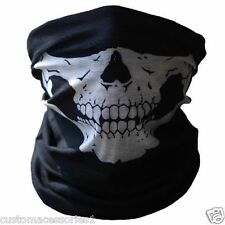 SKULL FACE MASK FOR MOTORCYCLE BIKE BMX SKI MOTORCROSS - NECK WARMER - BANDANA