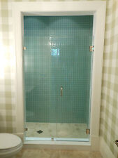 Frameless Shower Door Custom Made to your opening 3/8 Glass,/Hrd Combo up to 36""