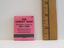 VINTAGE THE CARPET SHOP CHILLICOTHE OHIO PINK ADVERTISING MATCHBOOK