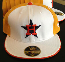 Houston Astros NEW ERA 59FIFTY Fitted Hat Cooperstown Collection Throwback Sz 8
