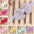 Kids Girls Baby Infant Bow Headband Toddler Chiffon Hair Band Princess Headwear
