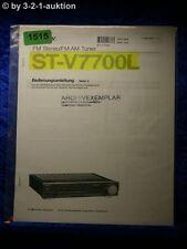 Sony Bedienungsanleitung STR V7700L FM/AM Receiver (#1515)