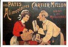 CPP137 CARTE POSTALE publicité PATES ALIMENTAIRES CARTIER-MILLON