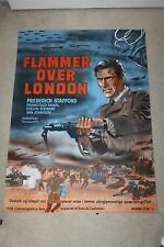 Original Movie Poster EAGLES OVER LONDON Danish '73 Wenzel Frederick Stafford