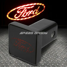 "BULLY 2"" RECEIVER TRAILER TOW HITCH COVER/ABS PLUG+LOGO LED BRAKE LIGHT FOR FORD"
