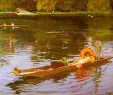 Lavery sir john boating on the thames d'impression A4