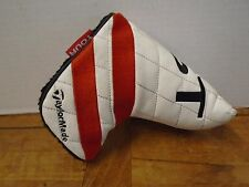 Taylormade Tour Ghost Blade Putter Cover Pre Owned Taylor Made Stripes Red