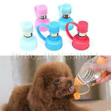 Pet Doggy Portable Hanging Outdoor Drinking Feeding Water Bottle Head Feeder