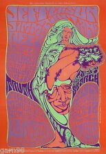 Jefferson Airplane Jimmy Reed John Lee Hooker  BG  Poster 1967 Wes Wilson