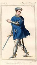 COSTUME DE LA FRANCE XVe siècle /  PIERRE DES ESSARTS Conseiller du Roi