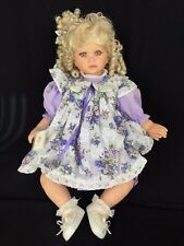 """Royal Vienna Doll Collection Haley Lavender Eyes Curly Blond Hair Baby Doll 24"""""""