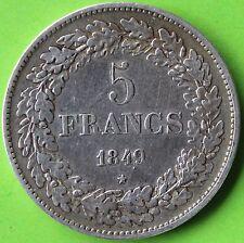 BELGIQUE 5 FRANCS LEOPOLD PREMIER 1849