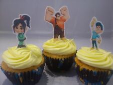 24 Wreck It Ralph Standing Edible Cupcake/Fairy Cake Wafer Toppers **Fabulous**