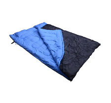 "2 Person Large Sleeping Bag Double 23F/-5℃ Camping Hiking 86""x60"" W/ 2 Pillows"