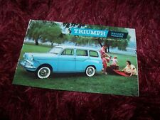 Prospectus /  Brochure TRIUMPH Estate Wagon 1960