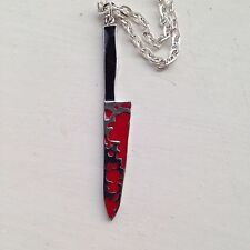 COLTELLO INSANGUINATO COLLANA Sweeney Todd HORROR HALLOWEEN