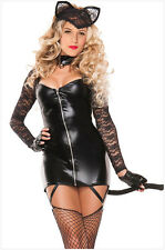 Sexy Women Halloween Fancy Dress Catwoman Wild Costume Cat Cosplay S/M 8896