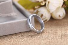 Genuine Natural Gibeon Meteorite Silver Plated Rare Ring One Size 9