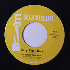 DON RAY SAMPSON: Baby Come Back / Take It Easy 45 rare Soul