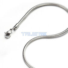 "1.2 mm 16"" 16 inch Silver Stainless Steel Round Snake Necklace Chain For Women"