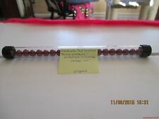 "Marbles-Tube of 22-Pee Wee 21-Red Dyed 1 Silver-Clay Marbles#34-.336""=8.30mm"