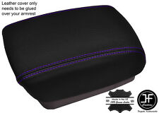 PURPLE STITCHING ARMREST LID LEATHER COVER FITS KIA CARENS MK3 2006-2012