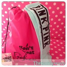 VICTORIA'S SECRET PINK Knee High Tall Socks & Drawstring Backpack Gift Set