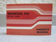 Honda QA50 K1 - Owner's Manual - Look!