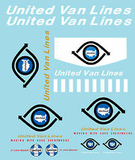 TONKA UNITED VAN LINES SEMI DECAL SET