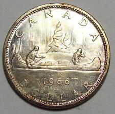 1966  CANADA  DOLLAR  Toned BU    **Free U.S. Ship
