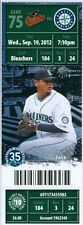 2012 Mariners vs Orioles Ticket: Adam Jones 2-run homer in the top of 11th