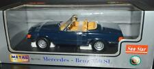 SunStar 1977 Mercedes 350SL Open Convertible Car 1/18 #1131 Blue RARE!