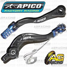 Apico Black Blue Rear Brake & Gear Pedal Lever Shifter For KTM SX 300 2007-2015