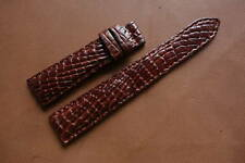 20mm/16mm Padded Brown Genuine ALLIGATOR, CROCODILE SKIN WATCH STRAP BAND